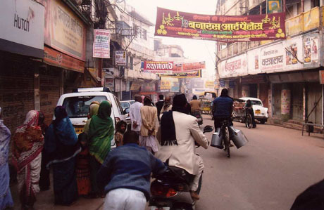 Teeming streets of small cities throughout India