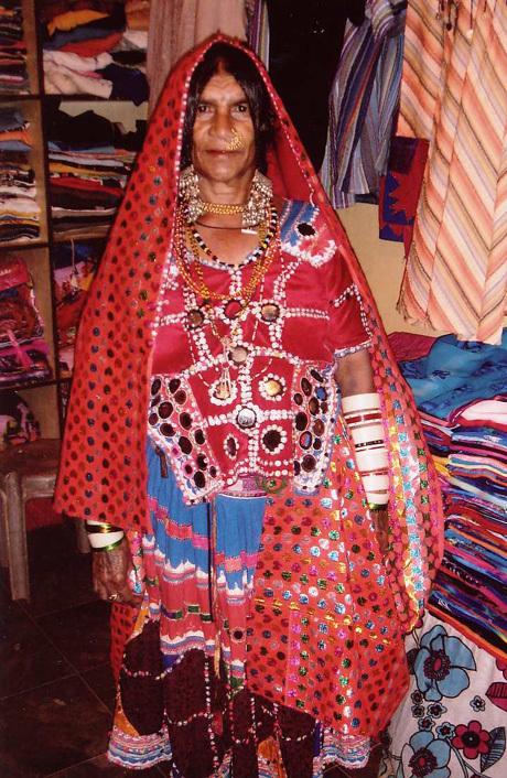 Karnataka tribal woman in Anjuna, Goa