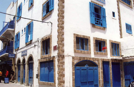 Blue doors and shutters in Casablanca to stave off bad luck