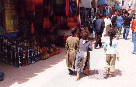 Beautiful children in Morocco's souks