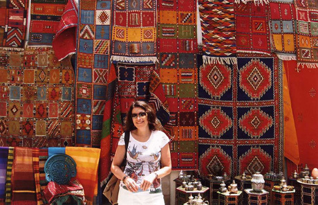 A riot of rich colour in the woven carpets in Tangier