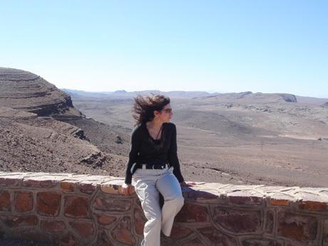 On the winding Tizi-n-Tickha pass crossing the High Atlas Mountains