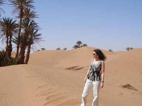 "Outside a Berber kasbah near Ouarzazate, the ""Door of the Desert"""