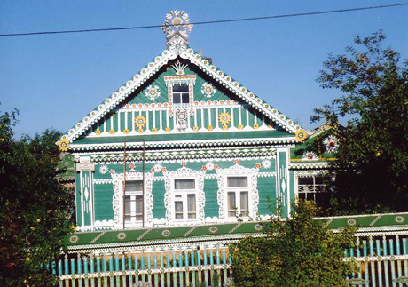 Decorated dacha outside of St. Petersburg