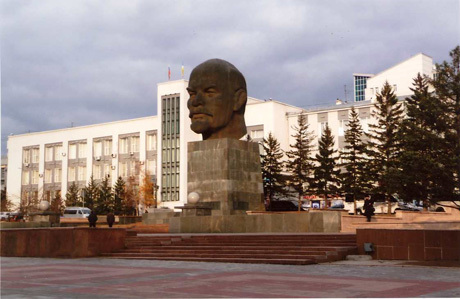 Largest Lenin head in the world! Ulan Ude, Siberia