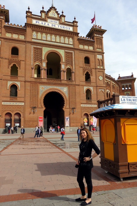 Outside Plaza de Toros de las Ventas in Madrid – with no intention of entering!