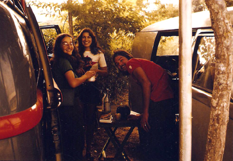 Me in Frank Zappa t-shirt - with friends outside of Cadiz, October 1973